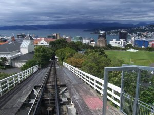 Uptown view of Wellington, cable car ride to the top of the city!