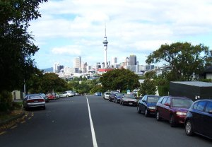 From every side street off Ponsonby Road - Great Views!